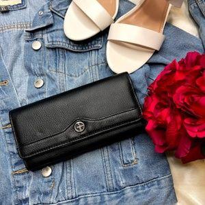 Giani Bernini Pebble Leather Manager Wallet